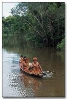 Amazonie - pirogue-nativos