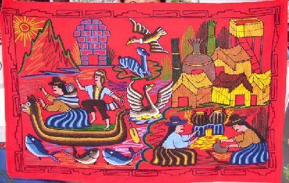 Voyage et Tourisme au Pérou - Broderie typique du Pérou